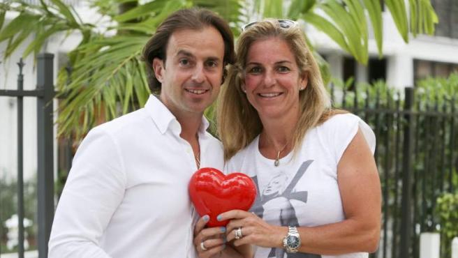 Josep Santacana y Arantxa Sánchez Vicario, en una foto tomada en marzo de 2014.