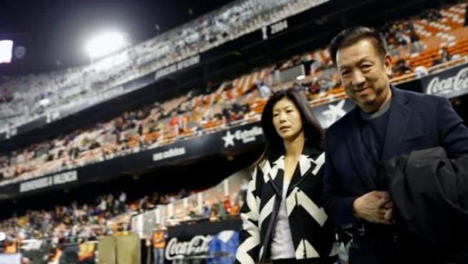 Peter Lim, Valencia's largest shareholder, in Mestalla.