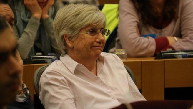 La exconsellera de Educación Clara Ponsatí, en una imagen del pasado mes de febrero.