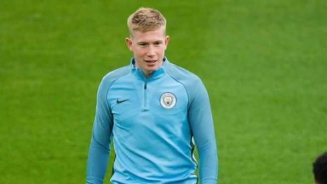 Kevin de Bruyne, en un entrenamiento con el Manchester City.
