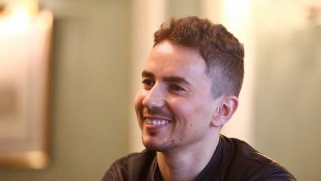 Jorge Lorenzo, durante la entrevista.