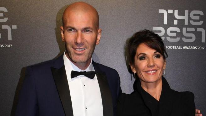 Zinedine Zidane y su mujer Veronique, durante la gala de los premios The Best.