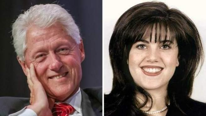 Bill Clinton y Monica Lewinsky, en dos imágenes de archivo.