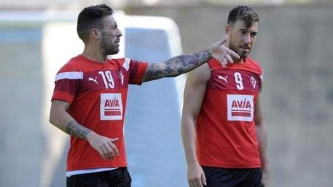 Los dos jugadores del Eibar, Enrich y Luna, implicados en la filtración del vídeo erótico.