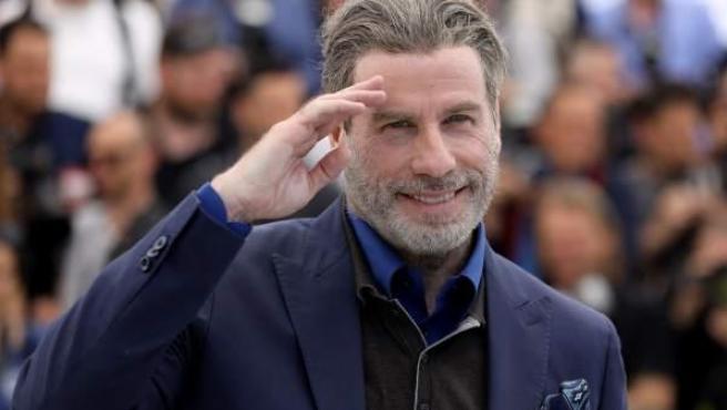 El actor John Travolta, durante la presentación de 'Gotti'.