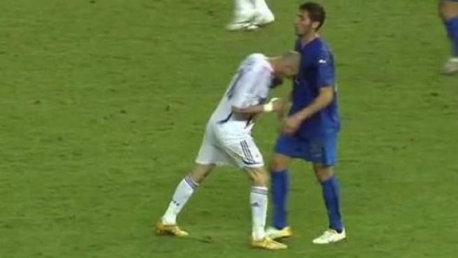 Momento exacto del cabezazo de Zidane a Materazzi.
