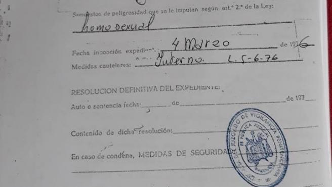 El expediente carcelario de Antoni Ruiz.