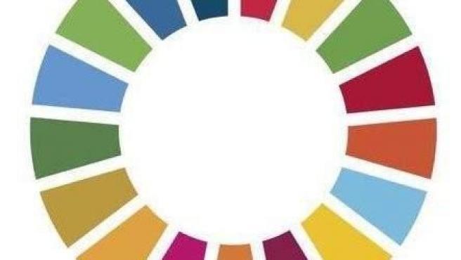 Círculo de los objetivos de desarrollo sostenible de la Agenda 2030.