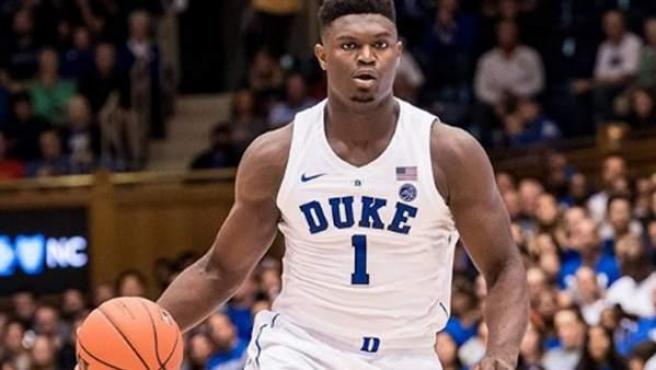 Zion Williamson, en un partido con la Universidad de Duke