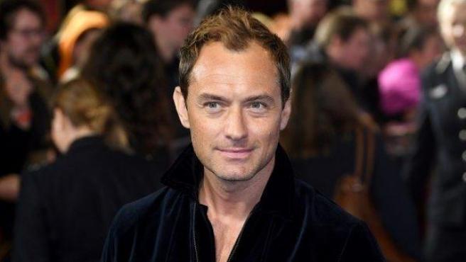 El actor Jude Law, en la premiere londinense de 'Capitana Marvel', a finales de febrero de 2019.