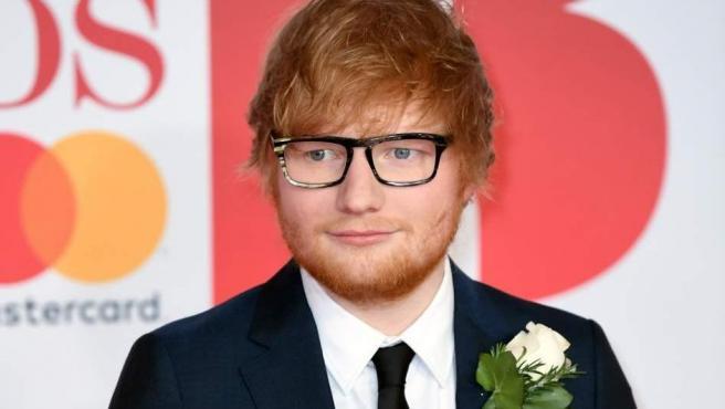 El cantante Ed Sheeran en la alfombra roja de los premios 'Brit', en febrero de 2018.