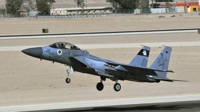 Un avión de la Fuerza Aérea de Israel, en una imagen de archivo.