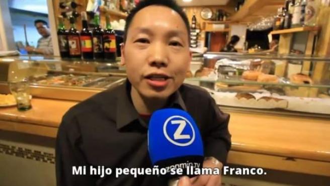 Chen es un hostelero chino que se declara fan de Franco.