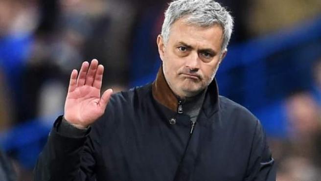 El entrenador portugués José Mourinho, en un partido de su última etapa en el Chelsea.