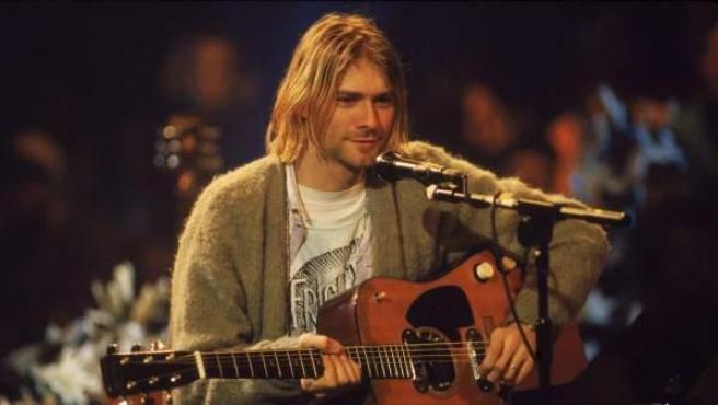 Una imagen de Kurt Cobain, durante una actuación en directo.