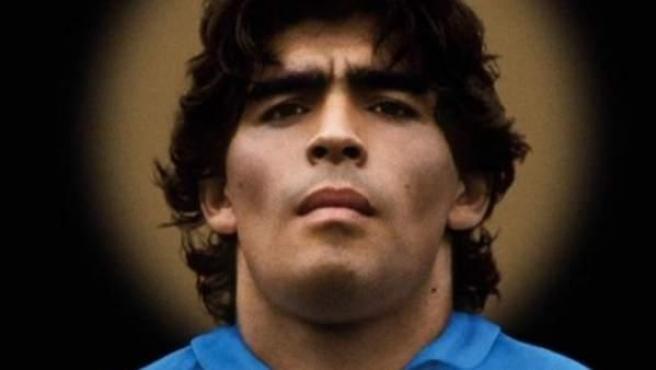Cartel de la película documental sobre Diego Armando Maradona.