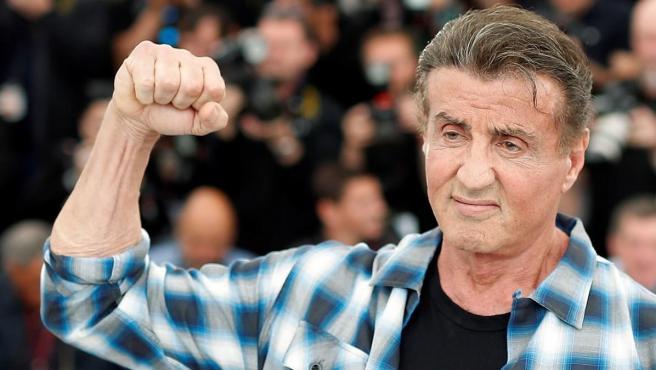 Sylvester Stallone en el Festival de Cannes.