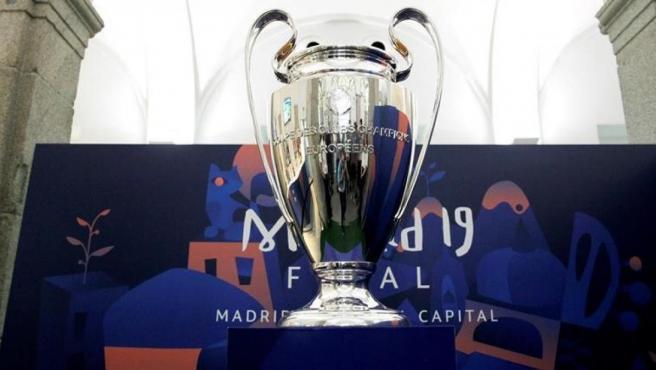 La Champions, en la oficina de turismo de Madrid