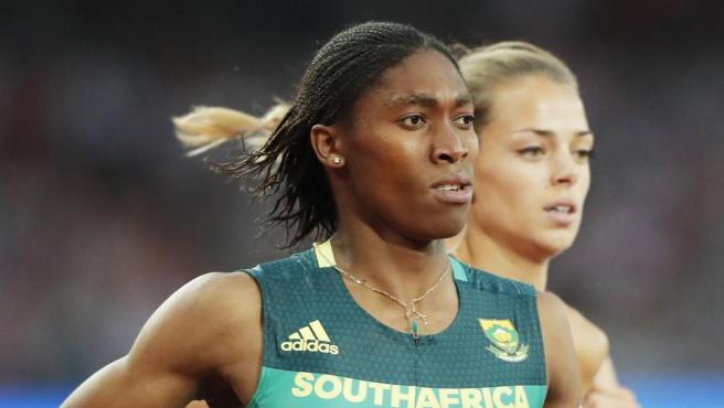 La atleta Caster Semenya, durante los Juegos Olímpicos de Londres 2012.