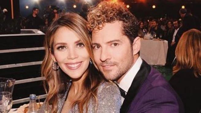 David Bisbal junto a su pareja Rosanna Zanetti. La pareja se conoció en 2016 y desde entonces van juntos a todo tipo de eventos sociales.