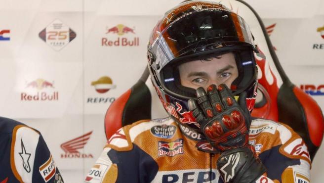 Lorenzo, en el Gran Premio de Cataluña de MotoGP