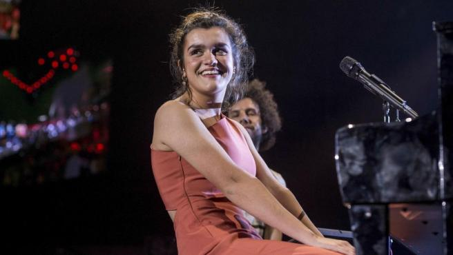 La cantante Amaia Romero, en el concierto de Los 40 el pasado mes de mayo.