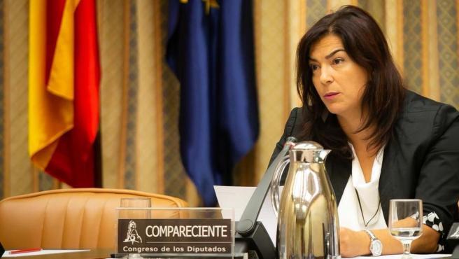 María José Rienda, secretaria de Estado para el Deporte, durante una comparecencia en el Congreso.