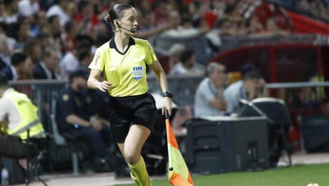 Guadalupe Porras Ayuso, durante un partido.