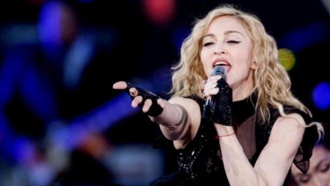 Madonna, durante un concierto.