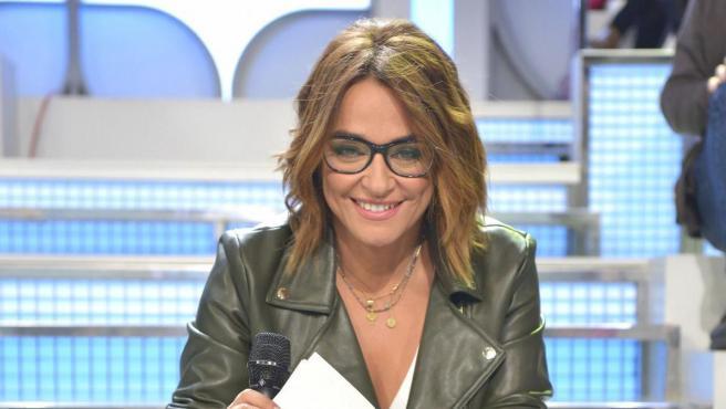 Toñi Moreno, en el plató de 'Mujeres y Hombres y Viceversa'.