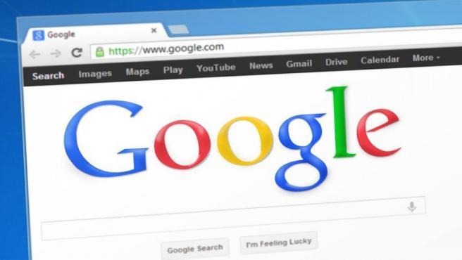 El buscador Google en una pestaña de Chrome, el navegador de Google.