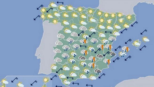Las Lluvias Torrenciales En Levante Continuaran Durante El Viernes
