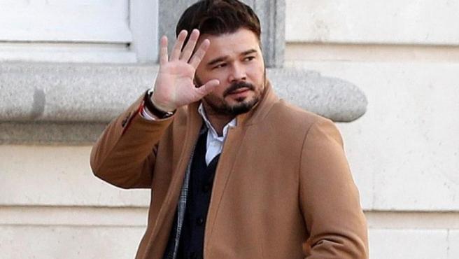 El portavoz parlamentario de ERC, Gabriel Rufián, en una imagen de archivo.