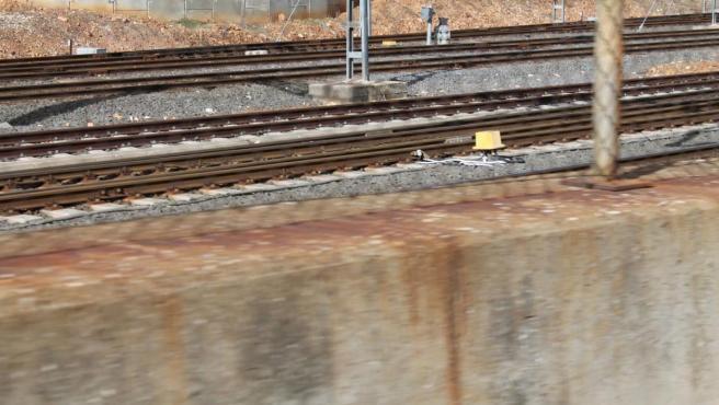 Imagen de archivo de vía de tren