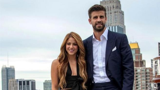 Piqué y Shakira, durante la presentación de la nueva Copa Davis.