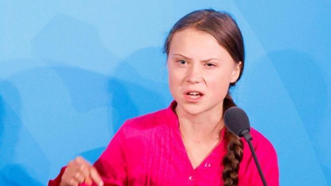 Greta Thunberg, en la Cumbre del Clima de Naciones Unidas.