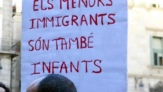 Una imagen de archivo de una manifestación de apoyo a los 'menas'.