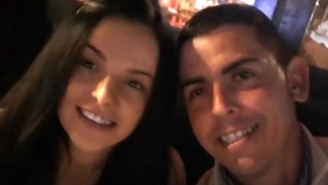 Sergio Ruiz y Dana Leonte, la mujer desaparecida en junio.