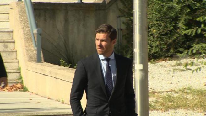 Xabi Alonso tras defender su inocencia en la Audiencia Provincial.