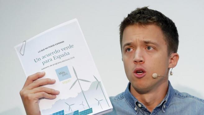 Iñigo Errejón presenta su programa político para el 10-N.