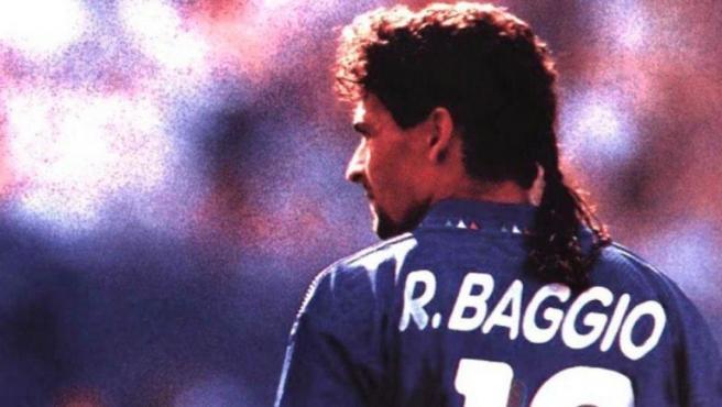 Roberto Baggio, durante un partido del Mundial de Estados Unidos 1994.