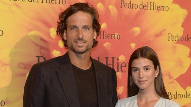 Feliciano López y Sandra Gago, en julio de 2019.