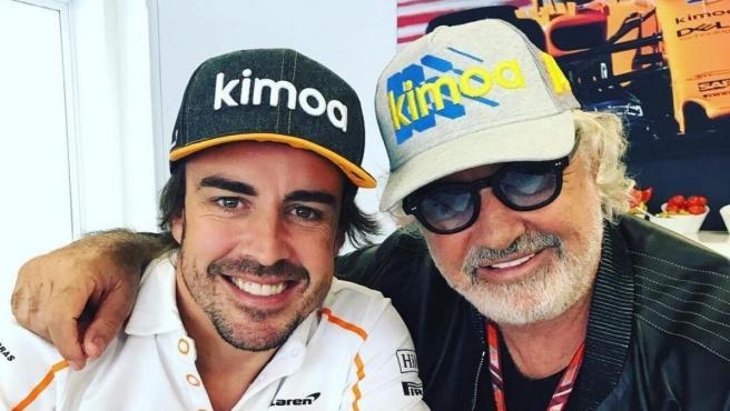 Fernando Alonso y Flavio Briatore comparten una gran amistad desde hace años.