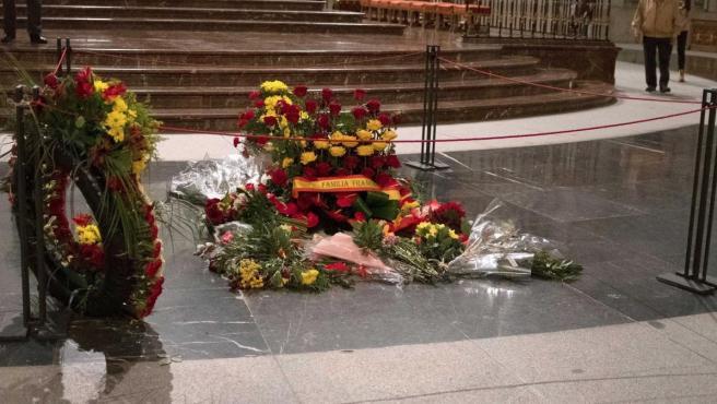 Último día de visitas en el Valle de los Caídos con los restos de Franco en la basílica.