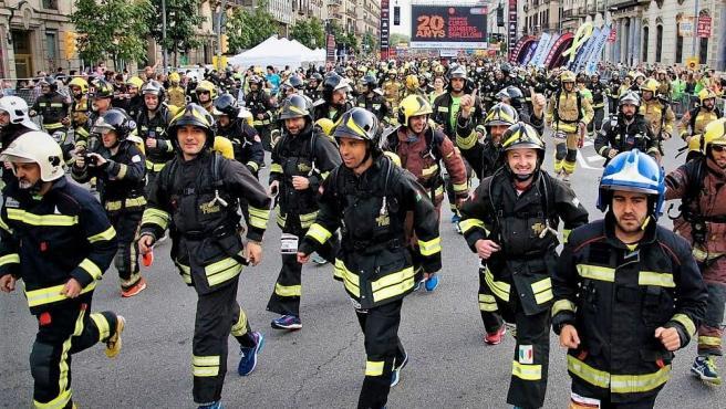 Foto de archivo de la Cursa de Bombers en Barcelona.