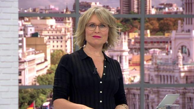 La presentadora de '120 minutos', en Telemadrid, María Rey.