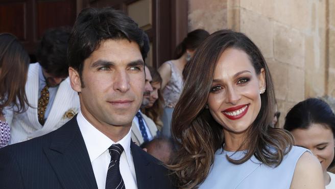 Eva González y Cayetano Rivera, en junio de 2019.