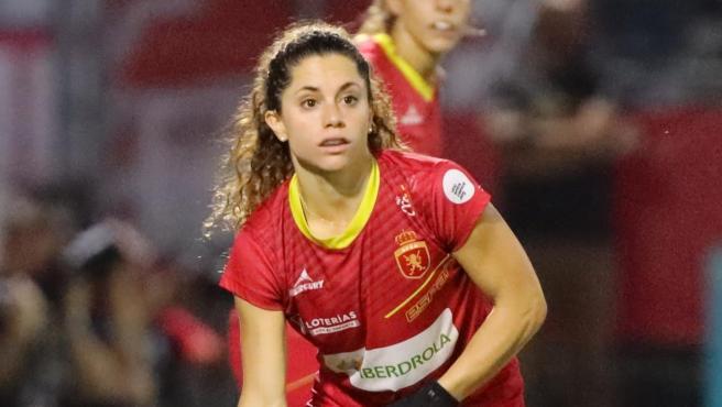 Georgina Oliva, jugadora de la selección española de hockey hierba.