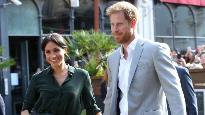 El príncipe Harry y Meghan Markle, en una visita en Brighton en octubre de 2018.