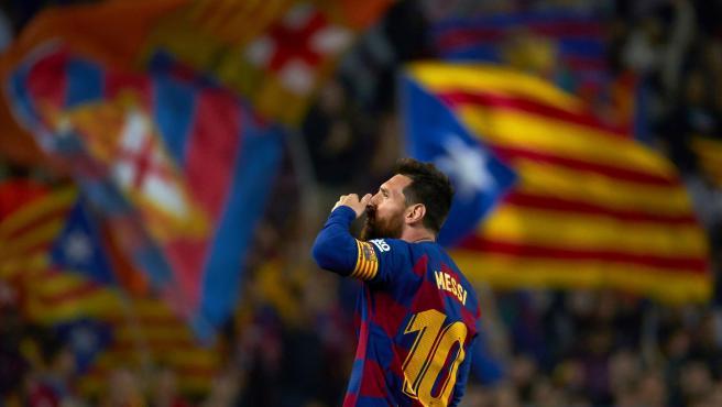 Leo Messi contra el Valladolid